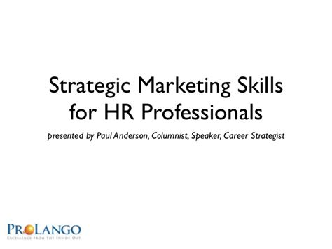 lwhra strategic marketing skills for hr professionals