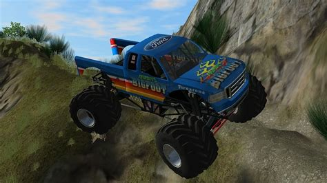 bigfoot monster truck games rigs of rods bigfoot monster truck on trail island youtube