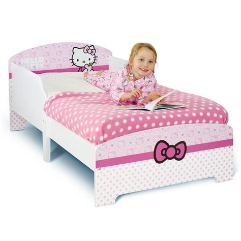 hello kitty beds hello kitty junior toddler bed foam mattress new boxed official ebay