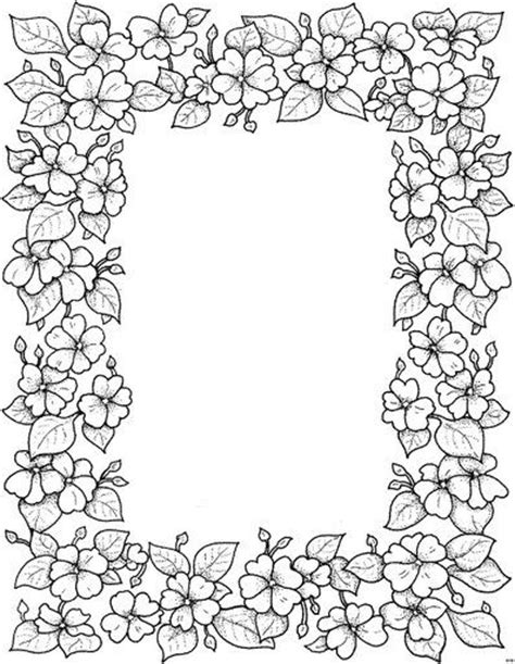 Coloring Page Border by 25 Best Ideas About Floral Border On Pink