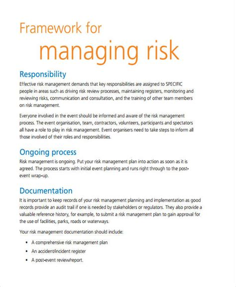 event risk management template 19 event plan templates in pdf free premium templates