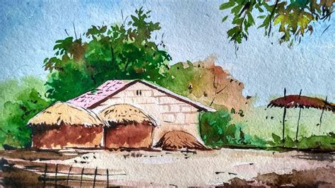 Landscape Paintings How To Watercolor Painting For Beginners House
