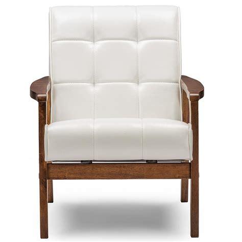 white faux leather baxton studio masterpiece mid century white faux leather