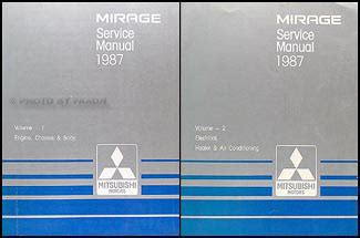 car maintenance manuals 1987 mitsubishi mirage free book repair manuals 1987 mitsubishi mirage repair shop manual set original
