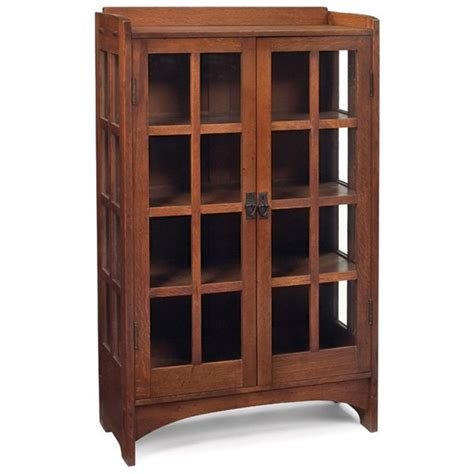 Stickley Cabinet by 75 Gustav Stickley China Cabinet 815 Lot 75