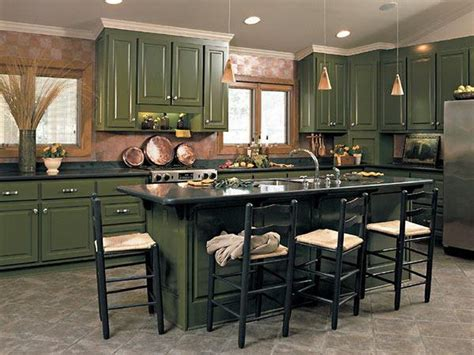 kitchens with green cabinets green kitchen cabinets