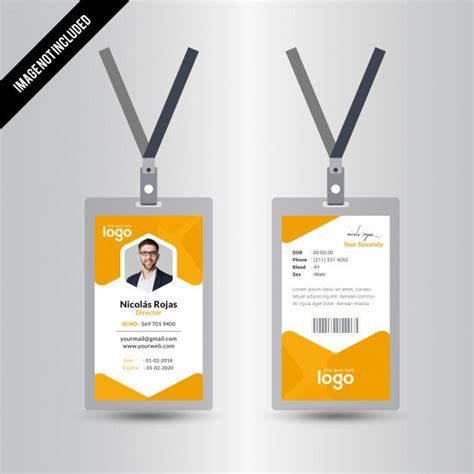 free id card template vector business card vectors photos and psd files free