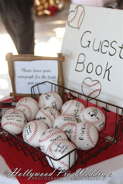 baseballwedding baseball themed wedding a unique guestbook signed baseballs instead of a