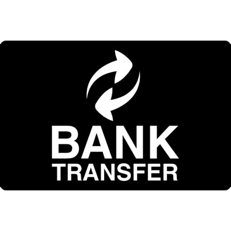 How To Transfer Gift Card To Bank - bank transfer logo on black free logo icons