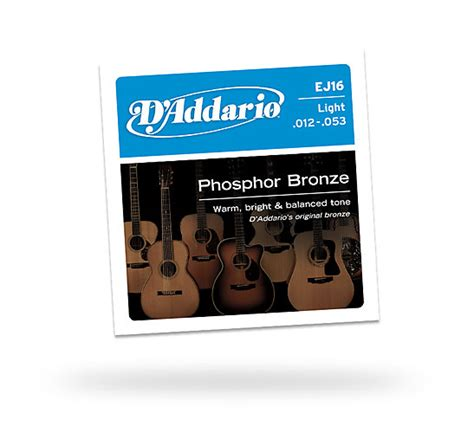 d addario ej16 phosphor bronze light acoustic guitar strings d addario ej16 phosphor bronze light acoustic guitar reverb