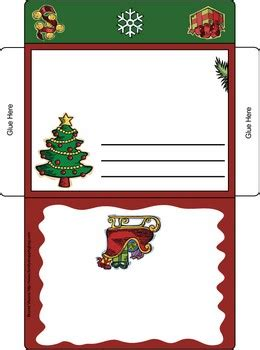 printable envelope christmas decorations tree letter envelope card christmas invitations free