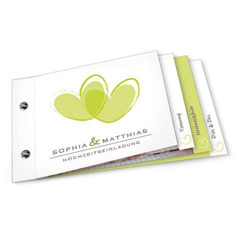 Hochzeitseinladung Booklet by Moderne Hochzeitseinladung Mit Gro 223 En Herzen
