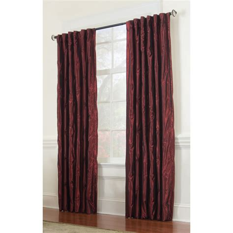 allen roth curtain panels shop allen roth belleville 95 in l solid wine thermal