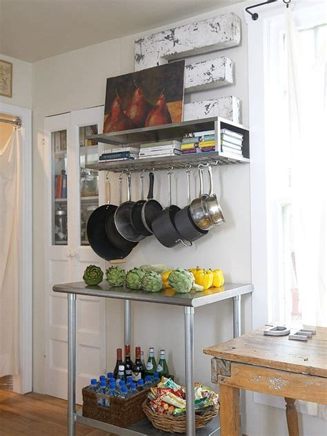 blank kitchen wall ideas walls that more bakers rack pot racks and small