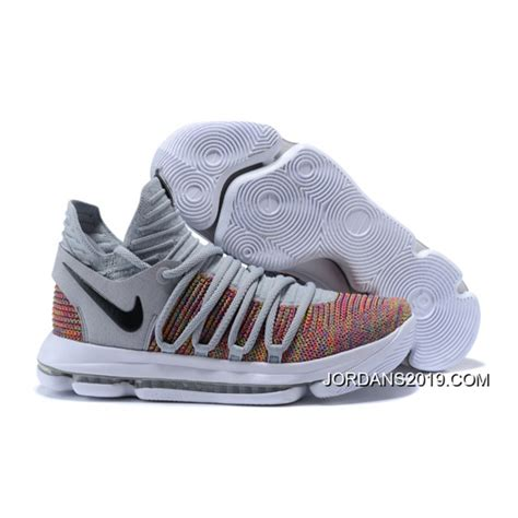 kd new year shoes nike kd 10 multi color black cool grey white new year