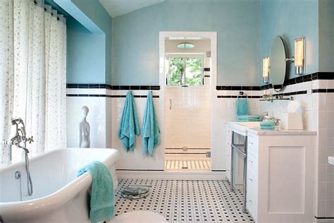 black white and blue bathroom 25 bathrooms that beat the winter blues with a splash of