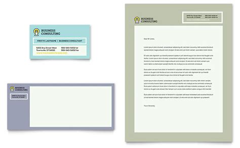 Business Consultants Business Card Letterhead Template Word Publisher Letterhead And Business Card Templates