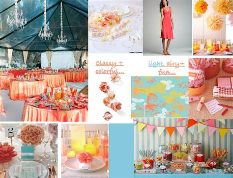 coral and blue wedding theme 1000 images about wedding color scheme coral turquoise