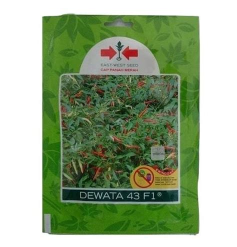 Benih Cabe Dewata F1 jual benih cabe rawit dewata 43 f1 2 250 biji panah