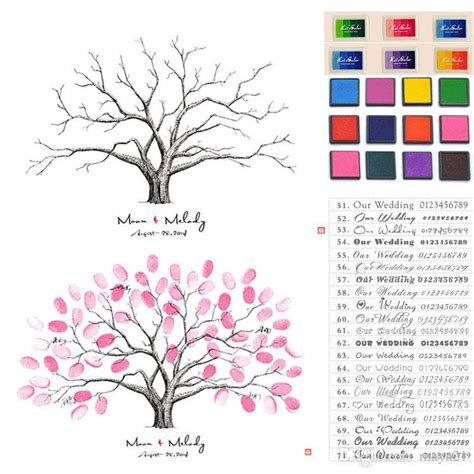 thumbprint family tree template 2018 thumbprint family tree sign in wedding thumbprint