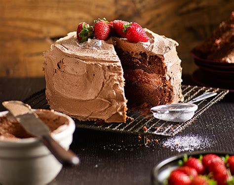 easy chocolate cake better homes and gardens