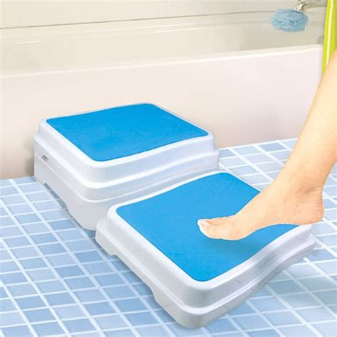 Bathtub Step Stool Elderly by Bathtub Safety Step Provides Added Safety Security