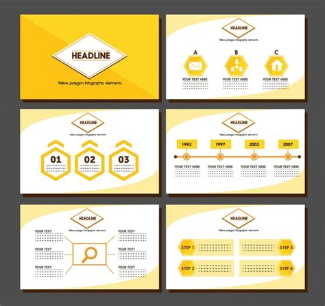 Brochure Presentation Design With Yellow Infographic Illustration Free Vector In Adobe Adobe Illustrator Presentation Templates