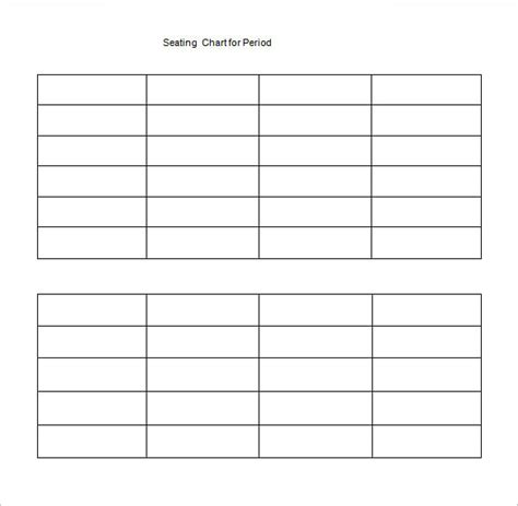 table seating chart template classroom seating chart template 14 exles in pdf