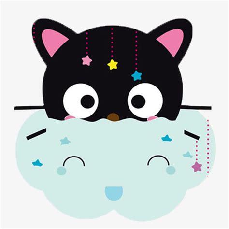 lindo gato de dibujos animados, cartoon cat, gato negro