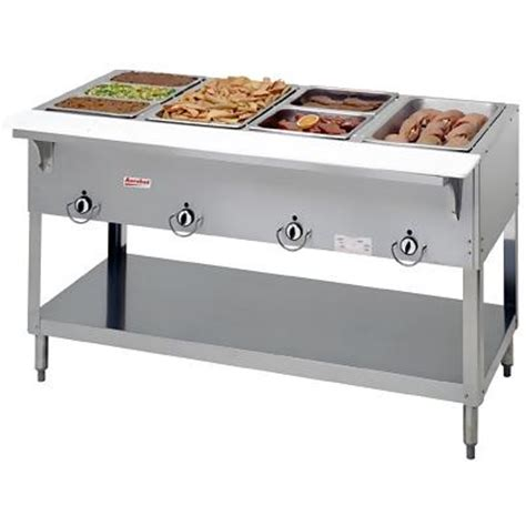 duke e304sw 4 well electric food warmer steam table