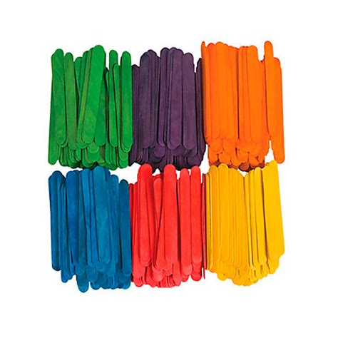 colored popsicle sticks 200 pcs wood popsicle sticks assorted colors wooden craft