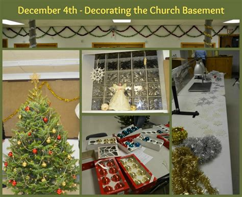 december 4th decorating the church basement 187 sallie draper