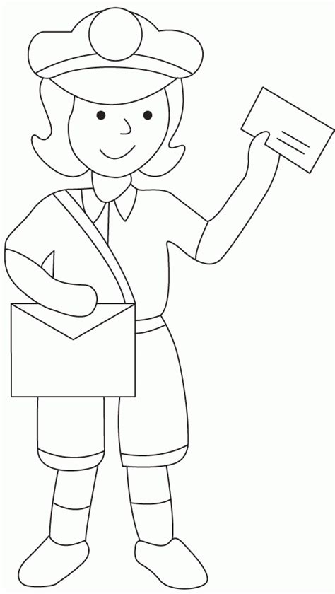 Mailman Coloring Pages mailman coloring page coloring home