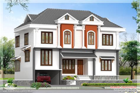 home design 3d non square rooms 2172 sq feet villa 3d view and floor plan home design plans