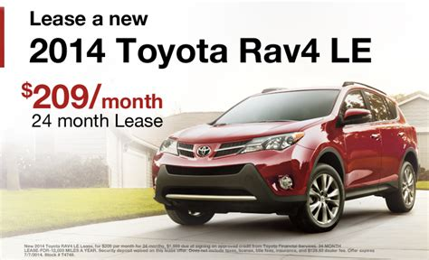 Lease A Toyota Rav4 2014 Toyota Rav4 Lease Near Eau Winona Dealer