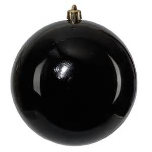 black shatterproof bauble 20cm peeks