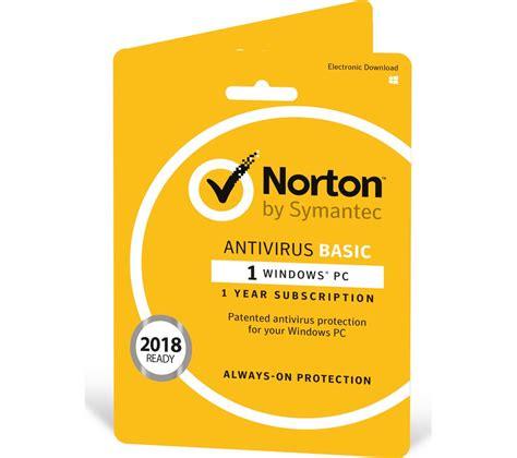 norton antivirus free download full version 1 year norton antivirus basic 1 user for 1 year deals pc world
