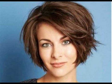 short choppy bob hairstyles for thick hair youtube