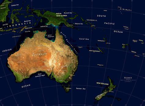 australia oceania satellite image giclee print physical