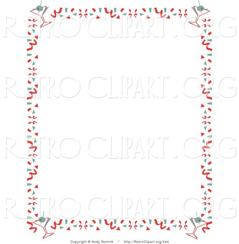 margarita clipart border retro clipart of a stationery background of with a