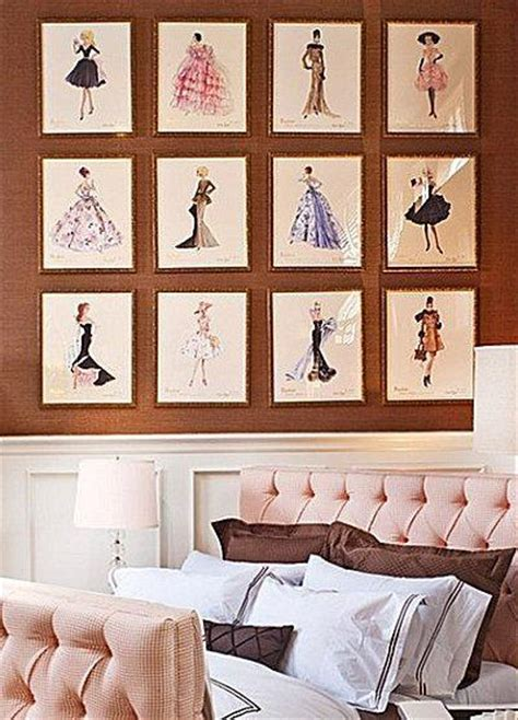 fashion themed bedroom bed room some small shaped picture frame nice image