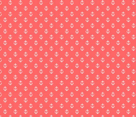 flower pattern eshop coral anchors fabric sweetzoeshop spoonflower