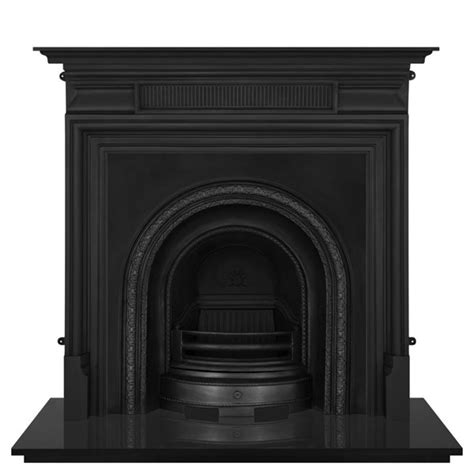 Cast Iron Fireplace Black by Scotia Black Cast Iron Fireplace Insert And Surround