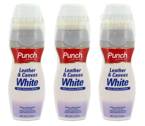 White Leather Cleaner by 3 X Punch Leather Canvas White Cleaner Cleans