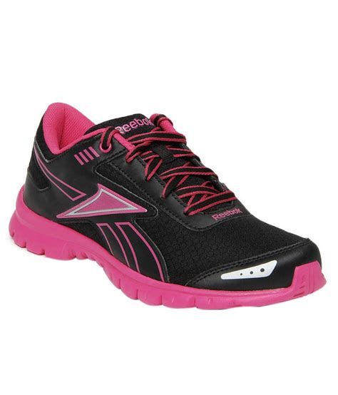 reebok black pink fiery running shoes price in india buy