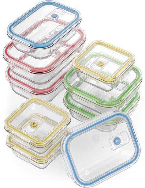 glass storage containers with locking lids vremi 18 glass food storage containers with locking