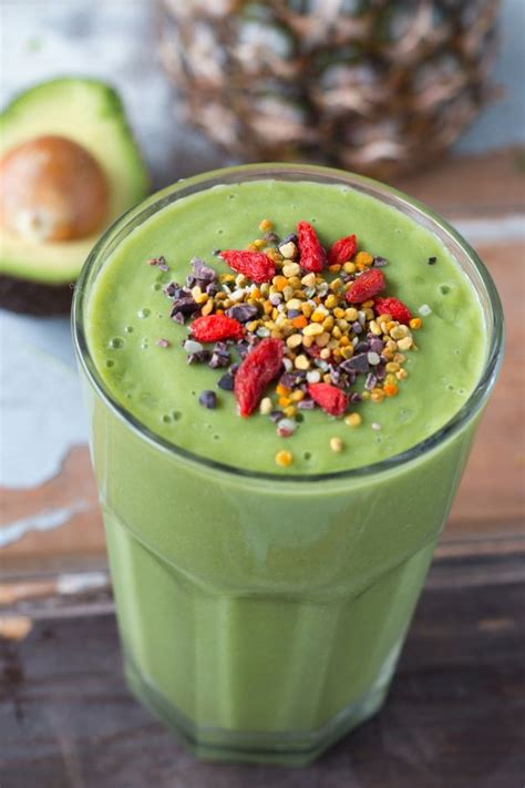 Green Detox Smoothie With Pineapple by Green Detox Smoothie With Pineapple Avocado Lime
