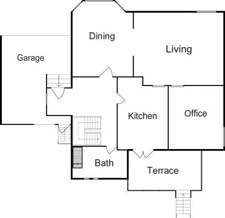 basic home floor plans unoptimal floor plan roomsketcher