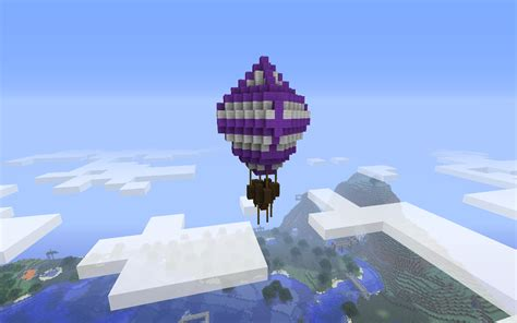 house ideas minecraft minecraft building ideas hot air balloon