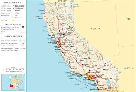 california map distances between cities g 233 ographie de la californie wikip 233 dia